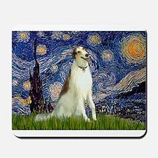 Starry Night & Borzoi Mousepad