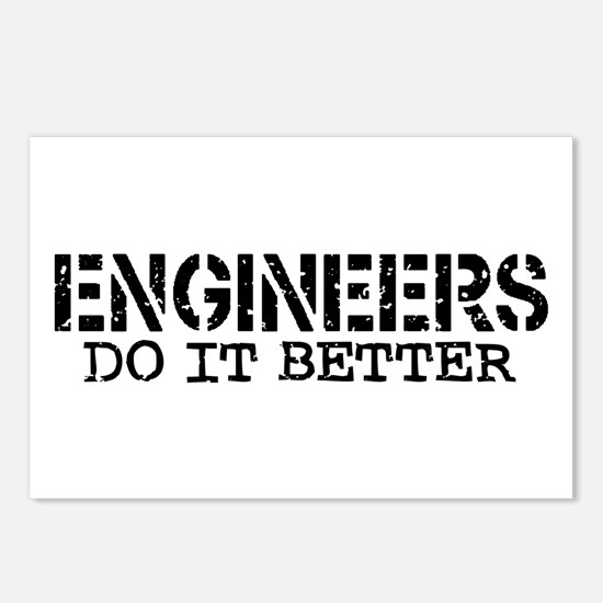 Engineers Do It Better Postcards (Package of 8)