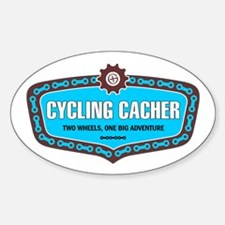 Cycling Cacher Oval Decal