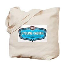 Cycling Cacher Tote Bag