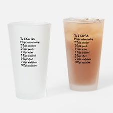 Buddhist 8 fold path Drinking Glass