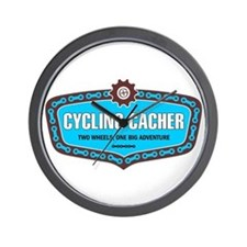 Cycling Cacher Wall Clock