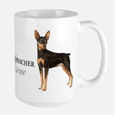 Min Pin Rescue Large Mug