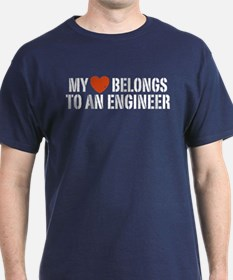 My Heart Belongs to an Engineer T-Shirt