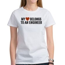 My Heart Belongs to an Engineer Tee