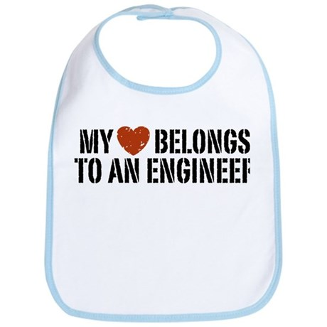 My Heart Belongs to an Engineer Bib
