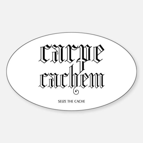 Carpe Cachem Oval Decal