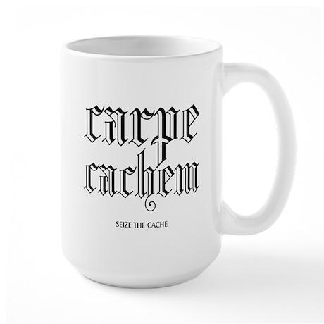 Carpe Cachem Large Mug
