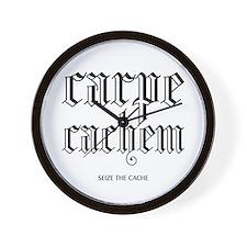 Carpe Cachem Wall Clock