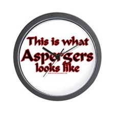 This Is What Asperger's Looks Wall Clock