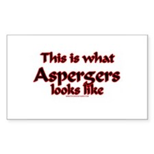 This Is What Asperger's Looks Rectangle Decal