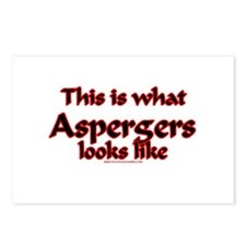 This Is What Asperger's Looks Postcards (Package o