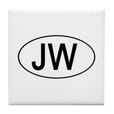 JW Euro Oval white Tile Coaster