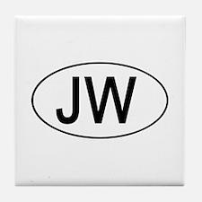 JW Euro Oval white Tile Coaster