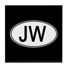 JW Euro Oval black Tile Coaster
