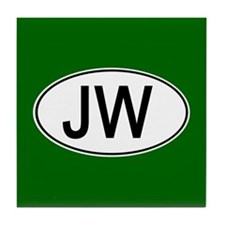 JW Euro Oval green Tile Coaster