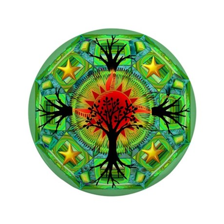 "Mother Earth 3.5"" Button (100 pack)"