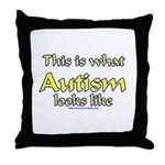 This Is What Autism's Looks L Throw Pillow