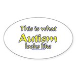 This Is What Autism's Looks L Oval Sticker (50 pk)