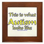 This Is What Autism's Looks L Framed Tile