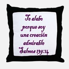 Salmos 139:14 Throw Pillow