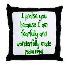 Psalm 139:14 Throw Pillow