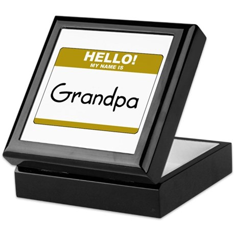 "Grandpa ""Name Tag"" Keepsake Box"