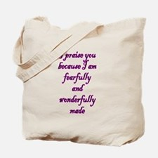Psalm 139:14 Tote Bag