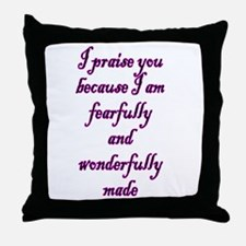 Psalm 139:14 Throw Pillow