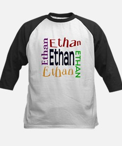 Ethan's Color Block Kids Baseball Jersey