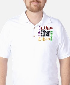 Ethan's Color Block Golf Shirt