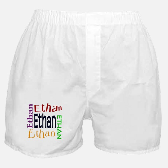 Ethan's Color Block Boxer Shorts