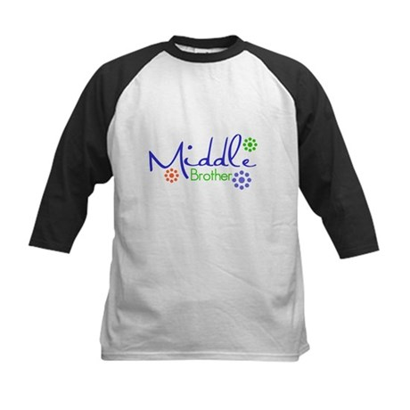 Middle Brother Trendy Kids Baseball Jersey