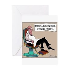 Express Barber Chair Greeting Card