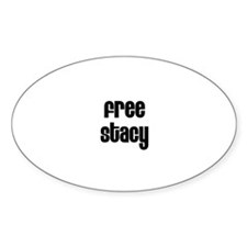 Free Stacy Oval Decal