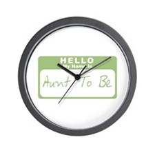 My Name Is Aunt To Be (Green) Wall Clock