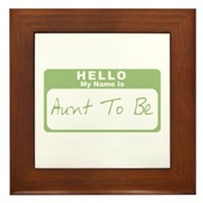 My Name Is Aunt To Be (Green) Framed Tile
