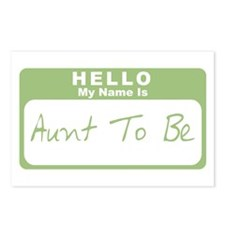 My Name Is Aunt To Be (Green) Postcards (Package o
