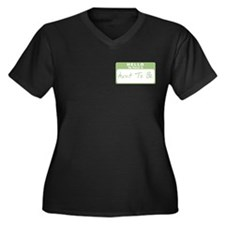 My Name Is Aunt To Be (Green) Women's Plus Size V-