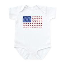 Original Patriotic Horse Flag Infant Bodysuit