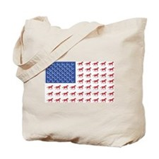 Original Patriotic Horse Flag Tote Bag
