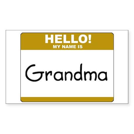"Grandma ""Name Tag"" Rectangle Sticker"
