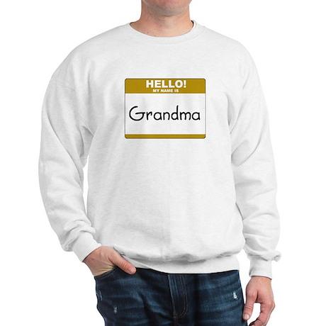 """Grandma """"Name Tag"""" Sweatshirt"""