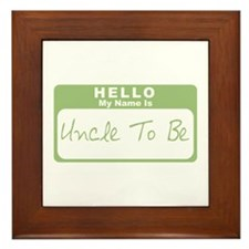 My Name Is Uncle To Be (Green) Framed Tile