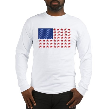 Original Patriotic Horse Flag Long Sleeve T-Shirt
