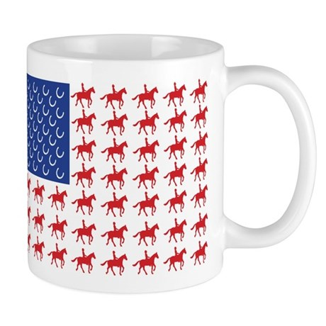 Original Patriotic Horse Flag Mug