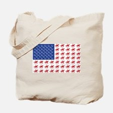 Original Patriotic Horse Flag Tote Bag
