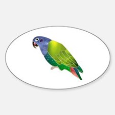 Stained Glass Pionus Parrot Oval Decal