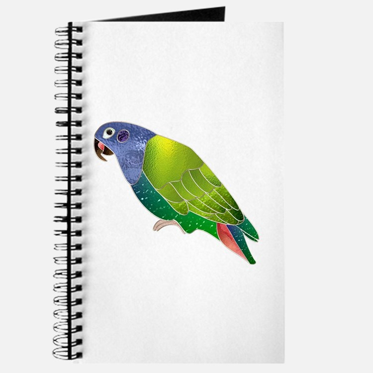 Stained Glass Pionus Parrot Journal