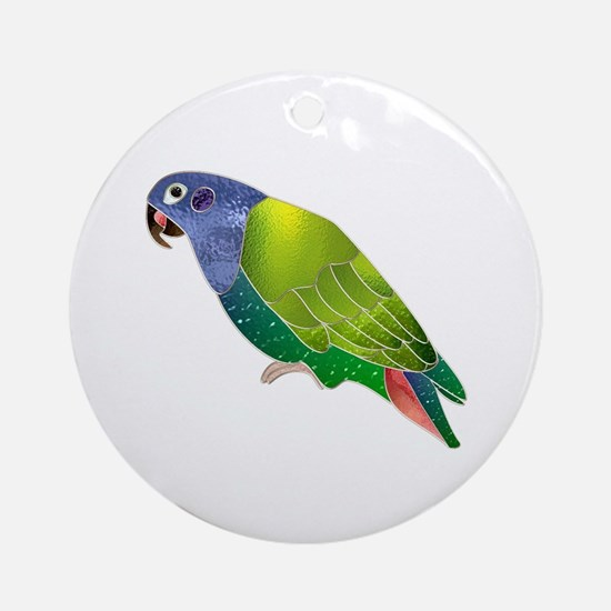 Stained Glass Pionus Parrot Keepsake (Round)